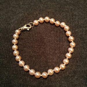"Other - NWOT Girl's 7"" Pink Cultured Pearl Bracelet"